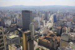 Sao Paulo horisont, Brasilien. Arkivfoton