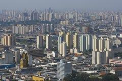 Sao Paulo horisont, Brasilien. Fotografering för Bildbyråer
