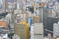 Sao Paulo horisont, Brasilien. Arkivbilder