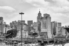 Sao Paulo landscape with the Banespa Building - Latin America Stock Photography