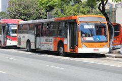 Sao Paulo miasta autobus Zdjęcie Stock