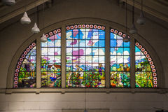Sao Paulo Municipal Market Brazil - Stained glass Royalty Free Stock Photography