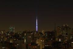 Sao-Paulo nachts Lizenzfreies Stockfoto