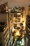 Sao Paulo at night Royalty Free Stock Images