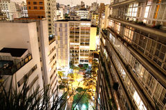 Sao Paulo at night Stock Images