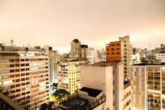 Sao Paulo at night. Skyline of Higienopolis, Sao Paulo, Brazil royalty free stock photo