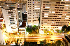 Sao Paulo at night Royalty Free Stock Image