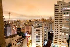 Sao Paulo at night. Skyline of Higienopolis, Sao Paulo, Brazil stock photos