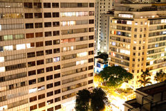 Sao Paulo at night Royalty Free Stock Photos