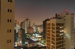 Sao Paulo by Night Royalty Free Stock Photo
