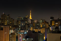 Sao Paulo at night. Royalty Free Stock Photography