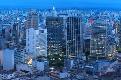 Sao Paulo in night time Royalty Free Stock Photos
