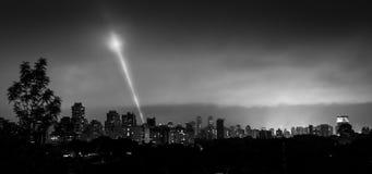 Sao Paulo at night. View of Sao Paulo at night in the Jardins region royalty free stock photo