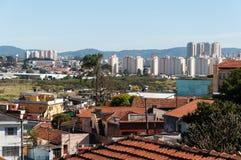 Sao Paulo och Guarulhos Arkivbilder