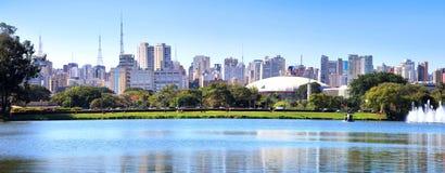 Sao Paulo panoramic view. Panoramic view of Sao Paulo city reflections Royalty Free Stock Photo