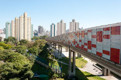 Sao paulo, residential area of the Bras Royalty Free Stock Photography