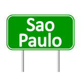 Sao Paulo road sign. Sao Paulo road sign  on white background Royalty Free Stock Photography