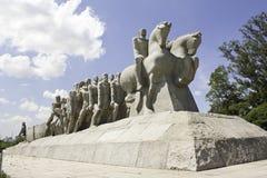 sao paulo s monumento Бразилии bandeiras Стоковая Фотография RF