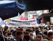 Sao Paulo/Sao Paulo/Brazil - may 15 2019 popular political manifestation against lack of budget on education affecting. Sao Paulo/Sao Paulo/Brazil - may 15 2019 royalty free stock image