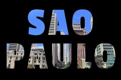 Sao Paulo sign stock photography
