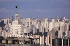 Sao Paulo skyline. From Ibirapuera Park Stock Image