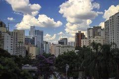 Sao Paulo Skyline Cityscape From Above fotografie stock libere da diritti
