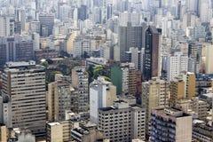 Sao Paulo Skyline Cityscape From Above Fotos de archivo libres de regalías