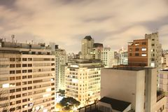 Sao Paulo Skyline at night Royalty Free Stock Image