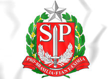 Sao Paulo state coat of arms, Brazil. Stock Photography