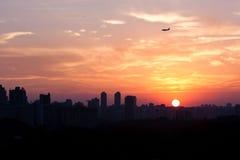 Sao Paulo Sunset, Brésil. Photographie stock libre de droits