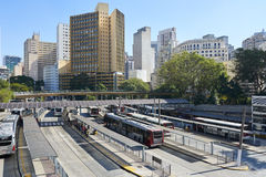Sao Paulo Terminal Bandeira lizenzfreie stockbilder