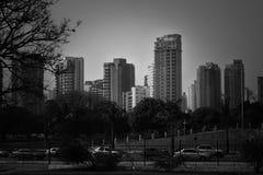 Sao Paulo tower blocks. Black and white skyline in Sao Paulo Brazil Royalty Free Stock Images