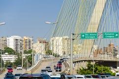 Sao Paulo trafik arkivbild
