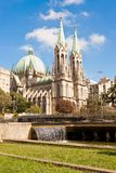 Sao Paulo Widzii Wielkomiejską katedrę Fotografia Royalty Free