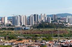 Sao Paulo y Guarulhos Foto de archivo libre de regalías