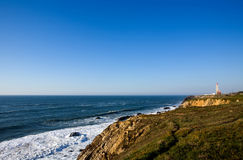 Sao Pedro de Moel sul litorale d'argento nel Portogallo Fotografia Stock Libera da Diritti