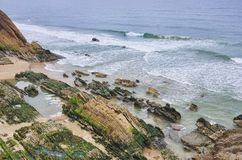 Sao Pedro de Muel coast Stock Photo