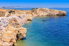 Sao Rafael beach. In Albufeira, Algarve region, Portugal Royalty Free Stock Images