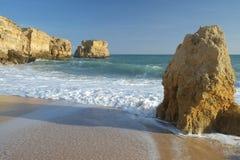 Sao Rafael Beach dans Albufeira portugal Image libre de droits
