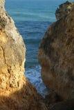 Sao Rafael Beach dans Albufeira portugal Images libres de droits