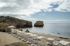 Sao Rafael plaża w Algarve Fotografia Royalty Free