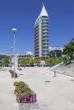 Sao Rafael Tower - Parque das Nacoes - Lissabon Arkivbilder