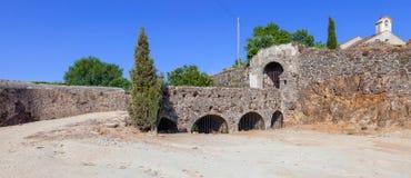 Sao Roque fortu wejście w Castelo De Vide Obrazy Stock