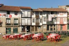 Sao Tiago square. Guimaraes . Portugal royalty free stock photos