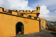 Sao Tiago van het fort in Funchal (Madera) Royalty-vrije Stock Foto
