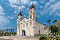 Sao Tomé, kerk stock foto