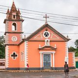 Sao Tomé, Notre-Dame-kerk royalty-vrije stock foto