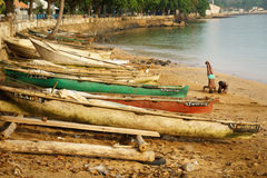 Sao Tome beach Stock Photo