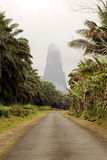 Sao Tome big rock Royalty Free Stock Image
