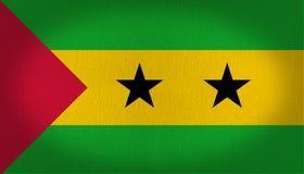 Sao Tome och prinsflagga Fotografering för Bildbyråer